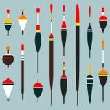 inställda fiska floats Kan användas för att fiska design också vektor för coreldrawillustration stock illustrationer
