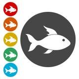 inställda fisksymboler vektor illustrationer