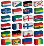 inställda flaggor 3d Royaltyfria Foton
