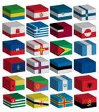 inställda flaggor 3d Arkivfoton