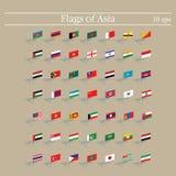 inställda flaggor 3d askfat Vektorillustration 10eps stock illustrationer