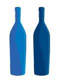 inställda flaskor Fotografering för Bildbyråer