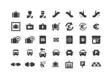 inställda flygplatssymboler Arkivbilder