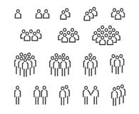 Inställda folksymboler Arkivbild