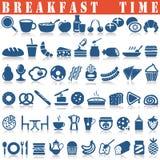 inställda frukostsymboler Royaltyfri Foto