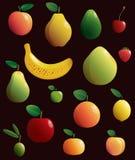 inställda frukter också vektor för coreldrawillustration Royaltyfri Bild