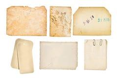 Inställda gammala paper bakgrunder Royaltyfri Fotografi
