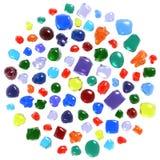 inställda gemstones Fotografering för Bildbyråer