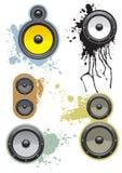 inställda högtalare royaltyfri illustrationer