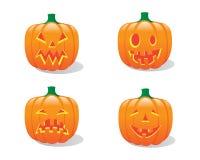 inställda halloween pumpor Arkivbilder
