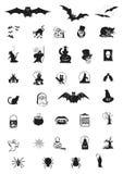 inställda halloween symboler Royaltyfri Foto