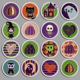 inställda halloween symboler Royaltyfri Fotografi