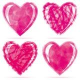inställda hjärtor vektor illustrationer