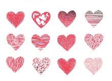 inställda hjärtor Arkivbilder
