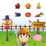 inställda jordbruksmarksymboler Vektor Illustrationer