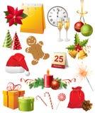 Inställda julsymboler Arkivbilder