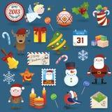 Inställda julsymboler Royaltyfri Foto