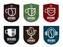 inställda kaffesymboler Royaltyfria Foton