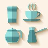 inställda kaffesymboler Fotografering för Bildbyråer