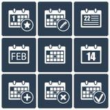 inställda kalendersymboler Arkivfoto