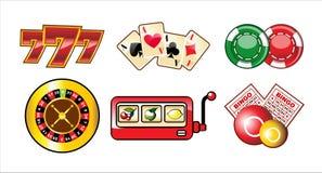 inställda kasinosymboler Royaltyfri Bild