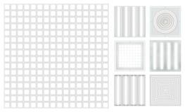 Inställda kassetttak - grilyato Ställ in för ett modultak Royaltyfria Foton