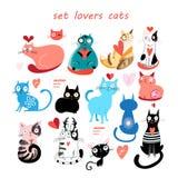 inställda katter stock illustrationer