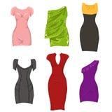 inställda klänningar Arkivbild