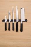 inställda knivar Arkivfoton