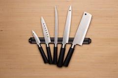inställda knivar royaltyfri fotografi