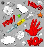inställda komiska explosioner för bok Royaltyfria Bilder