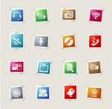 inställda kommunikationssymboler Royaltyfria Bilder