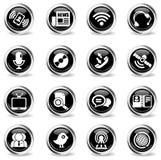 inställda kommunikationssymboler Arkivbild