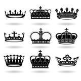 inställda kronor Royaltyfri Bild