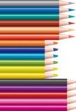inställda kulöra blyertspennor Royaltyfria Foton