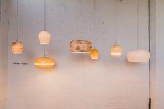 Inställda lampor på skärm för Fuorisalone 2015 på Ventura Lambr Royaltyfria Foton