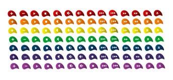inställda ljudsignalknappar vektor illustrationer
