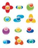 inställda logoer vektor illustrationer
