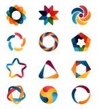 Inställda logomallar royaltyfri illustrationer
