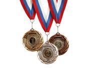 inställda medaljer Arkivfoton