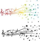 inställda musikanmärkningar Arkivfoto