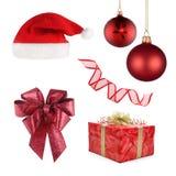 inställda olika objekt för jul royaltyfri fotografi