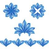 inställda olika petals stock illustrationer