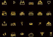 inställda olika symboler Arkivbild