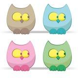 inställda owls Arkivbild