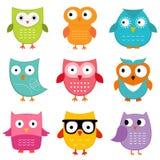 Inställda Owls Royaltyfri Bild