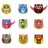 inställda owls Fotografering för Bildbyråer