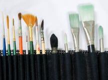 inställda paintbrushes Arkivbilder