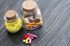 inställda pills Arkivbilder