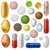 inställda pills royaltyfri illustrationer